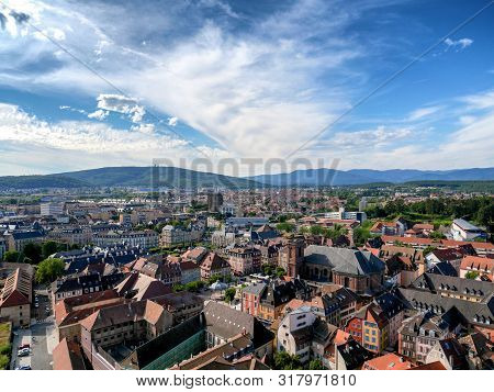 A View Of Belfort Town In France