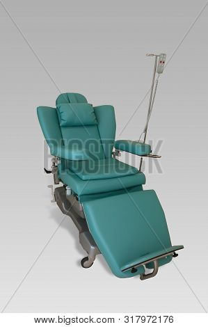 Dialysis Chair, Green On White Background, Clinic, Hospital