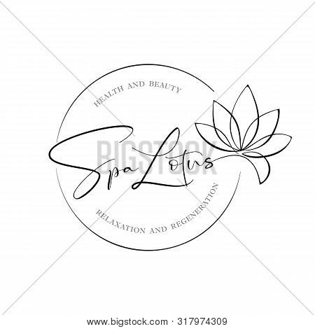 Spa Lotus. Healthy And Beauty. Lotus Flower Logo Template. Vetor Illustration.