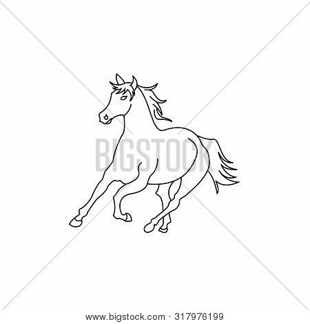 Save Download Preview Horse Standing On Three Paws Icon, Horse Standing On Three Paws Icon Eps10, Ho