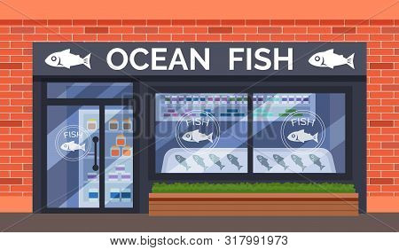 Fish And Seafood Shop Building Store Facade
