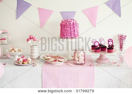 Dessert table for a party