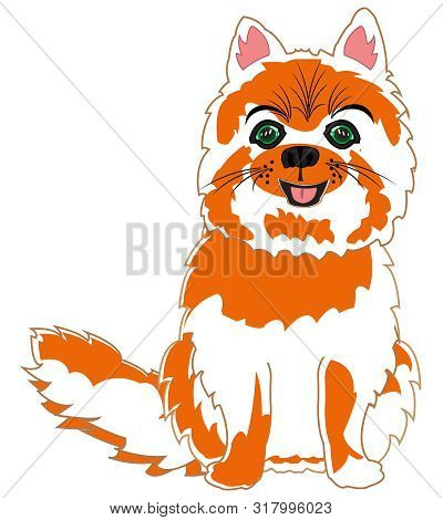 Vector Illustration Of The Cartoon Pets Feathery Cat