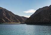 Landscape Sea View of Island Mountains, Red Sea, Taba, Sinai, Egypt poster
