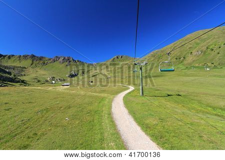 Chairlift In Ciampac, Canazei