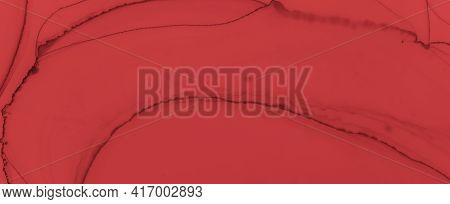 Liquid Blood Background. Red Fluid Banner. Horror Splatter Black. Watercolour Valentine Design. Bloo