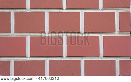 Abstract Brick Wall Texture With Dirty Spots For The Background For The Design. Textured Background
