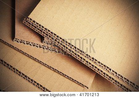 Corrugated Cardboard Background, Carton Detail