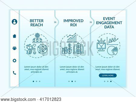 Hybrid Session Benefits Onboarding Vector Template. Responsive Mobile Website With Icons. Web Page W