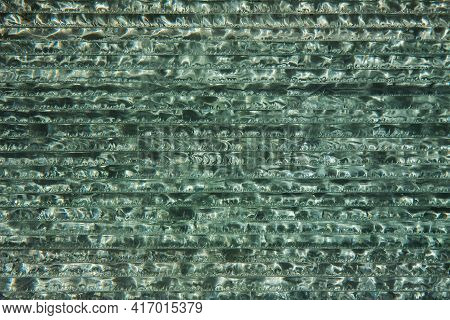 Ends Of The Window Glass Horizontally. Close-up Background