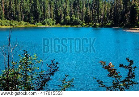 Blue Mountain Waters - An August Scene At Daly Lake - Cascade Range - Southwest Of Marion Forks, Or