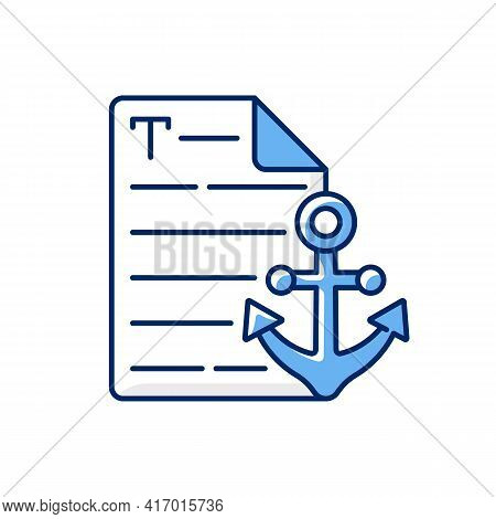 Anchor Text Rgb Color Icon. Webpage With Link. Document With Hyperlink. Copywriting Services. Freela
