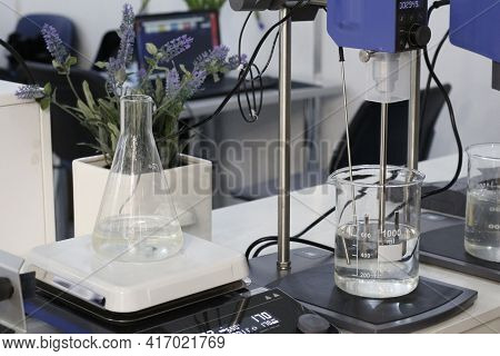 Test Tubes And Flasks - Laboratory Glassware. Chemical Laboratory Equipment.