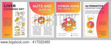 Liver Cleansing Diet Brochure Template. Olive Oil, Citrus Juice. Flyer, Booklet, Leaflet Print, Cove