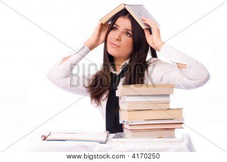 Sad Student Unwilling Ot Do Homework