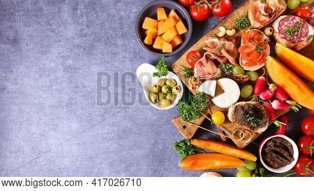 antipasto- assorted of buffet food