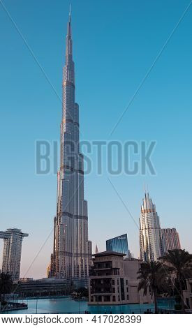 Dec 14th 2020, Dubai, Uae. View Of The  World's Tallest Tower , The Dsf Markets, Dubai Mall, Souq Al