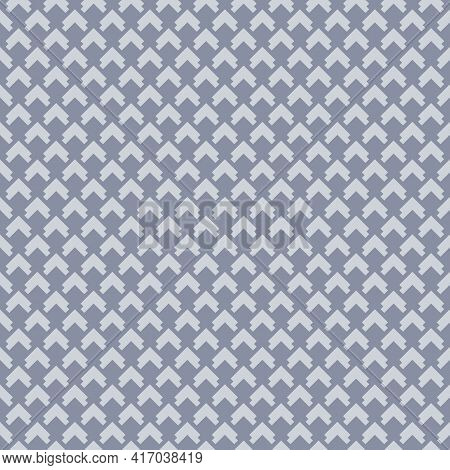 Vector Geometric Seamless Pattern. Subtle Abstract Texture With Small Arrows, Diamond Grid, Square S