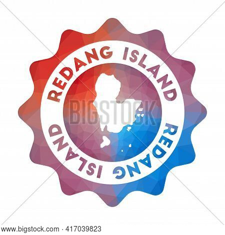 Redang Island Low Poly Logo. Colorful Gradient Travel Logo Of The Island In Geometric Style. Multico