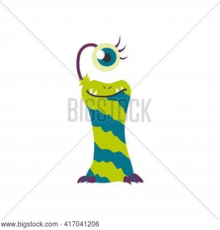 Monster Alphabet Symbol. Letter I Of English Alphabet Shaped As Monster. Children Colorful Cartoon F