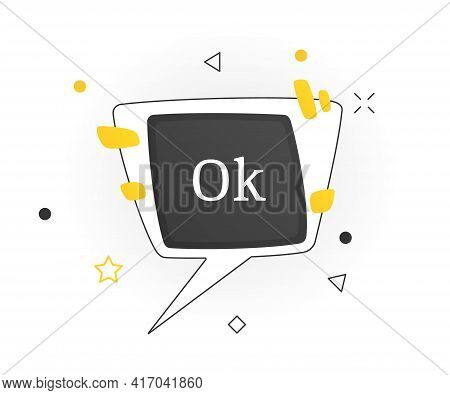Interesting Facts Bubble Symbol. Banner Or Sicker With Word Ok. Social Media Faq Banner With Speech