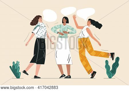 Young Women Performing Breath Control Exercise Together. Inner Peace And Energy Exercise For Female,