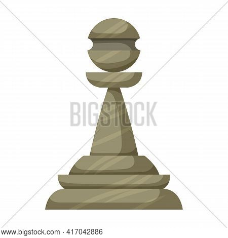 Chess Game Cartoon Vector Icon.cartoon Vector Illustration Of Pawn. Isolated Illustration Of Chess G