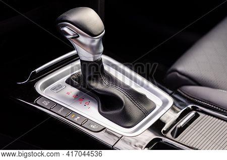 Gear Shift In New Modern Car, Automatic Transmission