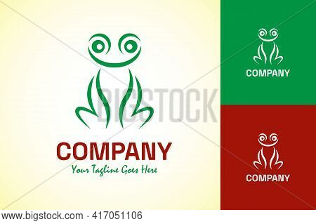 Freestyle Frog Logo Abstract Design Vector Template.