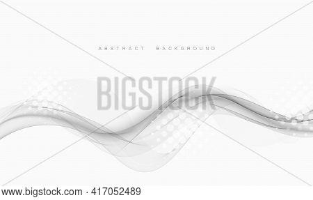 Abstract Swoosh Wave Lines Border Layout Grey Elegant Modern Certificate Background. Vector Illustra