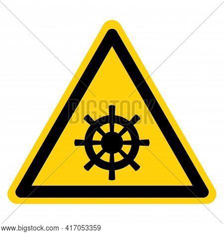 Rudder Navy Symbol Sign,vector Illustration, Isolate On White Background Label. Eps10