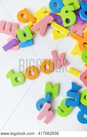 Multicolored Letters. Letters For The Study Of Children In Kindergarten Or School, Fluted Letters. B