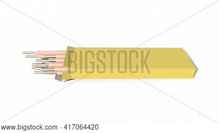 Arc-welding Electrodes Pack. Isolated Cg Industrial 3d Illustration