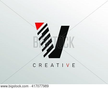 Creative Modern Letter V Logo, Monogram V Logo Icon.