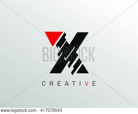 Creative Modern Letter X Logo, Monogram X Logo Icon.