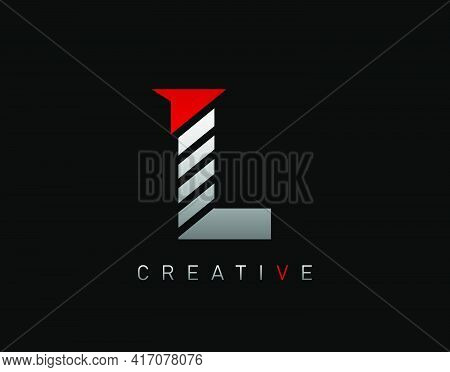 Creative Modern Letter L Logo, Abstract L Letter Logo Icon.