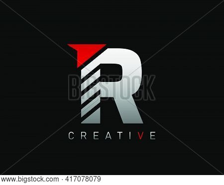 Creative Modern Letter R Logo, Abstract R Letter Logo Icon.