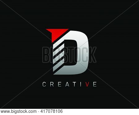 Creative Modern Letter D Logo, Abstract D Letter Logo Icon.