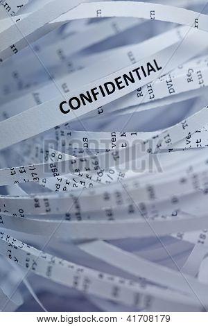 Pile Of Shredded Paper - Confidential