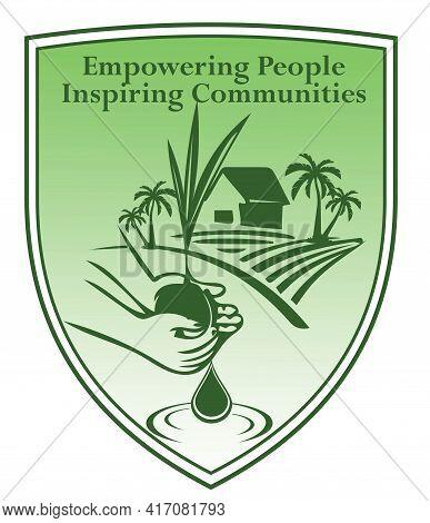 Empowering People Inspiring Communities Icon Symbol Illustration