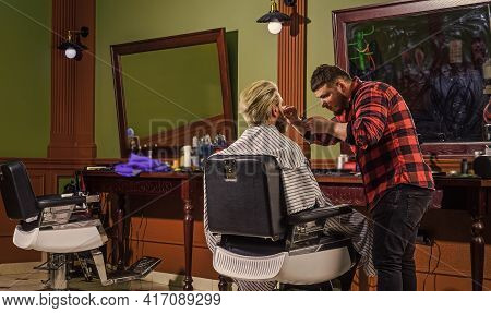 Barbershop Client. Trimming Beard. Barbershop Services. As Gentleman And Decent Human Being, You Mus