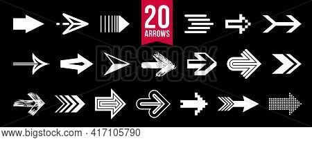 Arrows Vector Big Set Of Different Shapes Styles And Concepts, Cursors For Icons Or Logo Creation, G