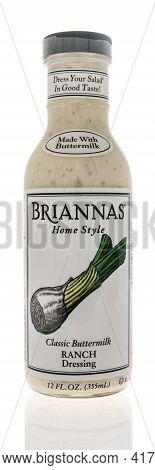 Winneconne, Wi - 15 April 2021:  A Bottle Of Briannas Home Style Classic Buttermilk Ranch Dressing O