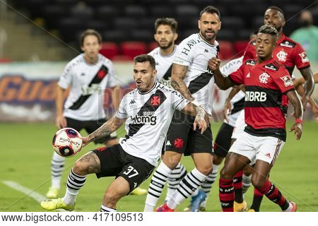 Rio, Brazil - April 15, 2021: Zeca Player In Match Between Flamengo V Vasco By Carioca Championship