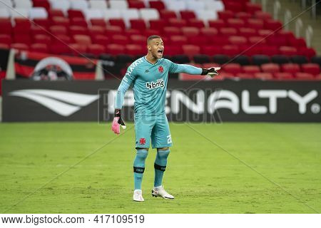 Rio, Brazil - April 15, 2021: Lucao Goalkeeper In Match Between Flamengo V Vasco By Carioca Champion