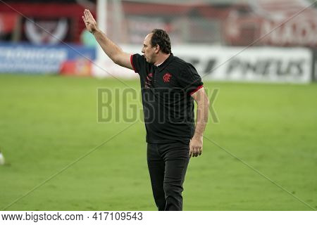 Rio, Brazil - April 15, 2021: Rogerio Ceni Coach In Match Between Flamengo V Vasco By Carioca Champi