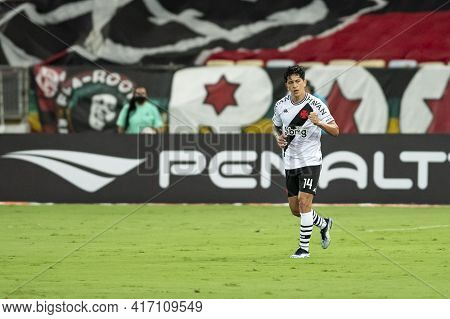 Rio, Brazil - April 15, 2021: German Cano Player In Match Between Flamengo V Vasco By Carioca Champi