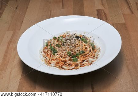 Traditional Chinese Cuisine Known As Dan Dan Noodles