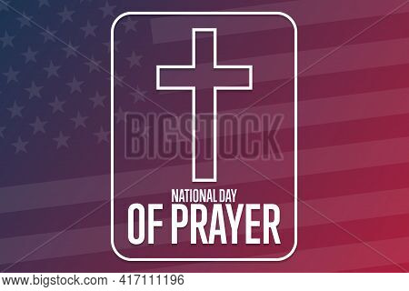 National Day Of Prayer. Holiday Concept. Template For Background, Banner, Card, Poster With Text Ins