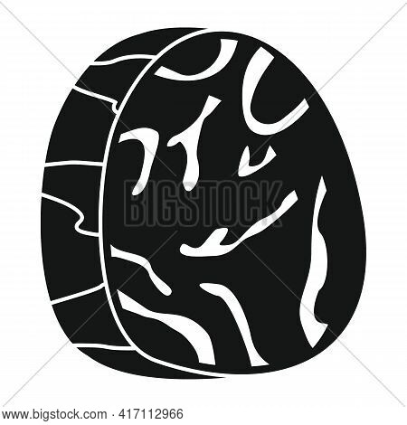 Vector Marbled Beef Black Simple Icon Isolated